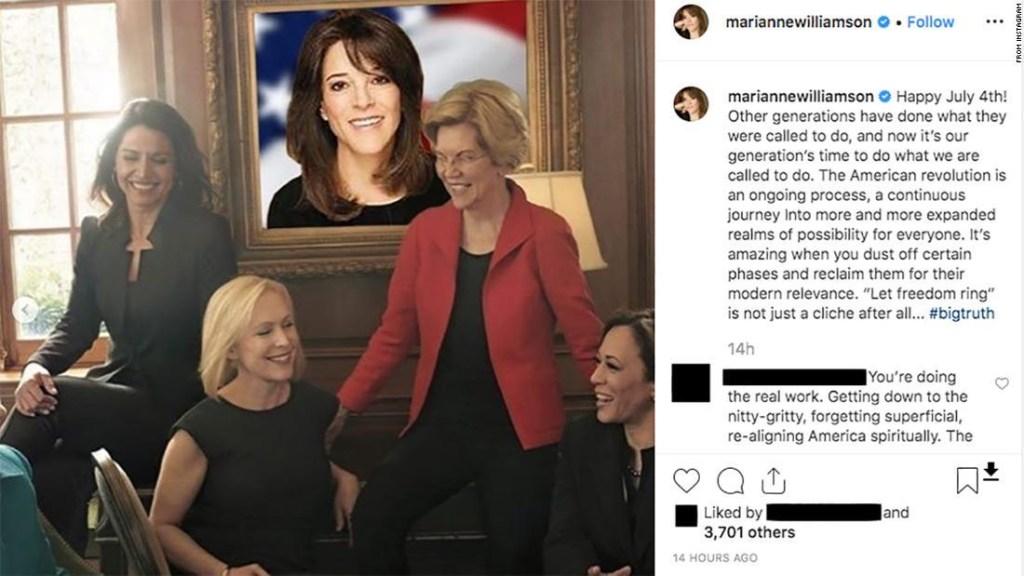 Marianne Williamson Vogue demócratas 2020