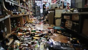 Los violentos sismos en California