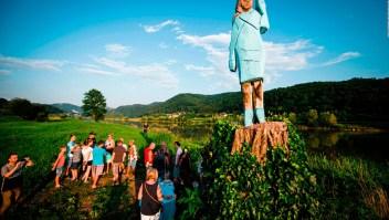 El primer monumento en honor a Melania Trump
