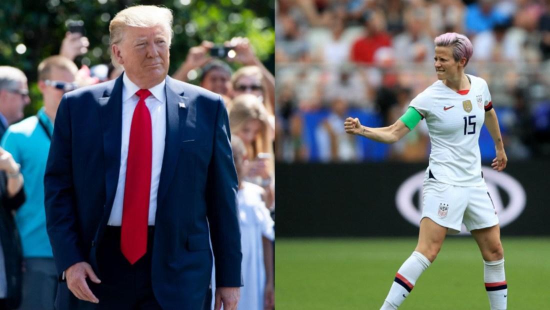 Trump habla de la equidad salarial en el futbol femenino