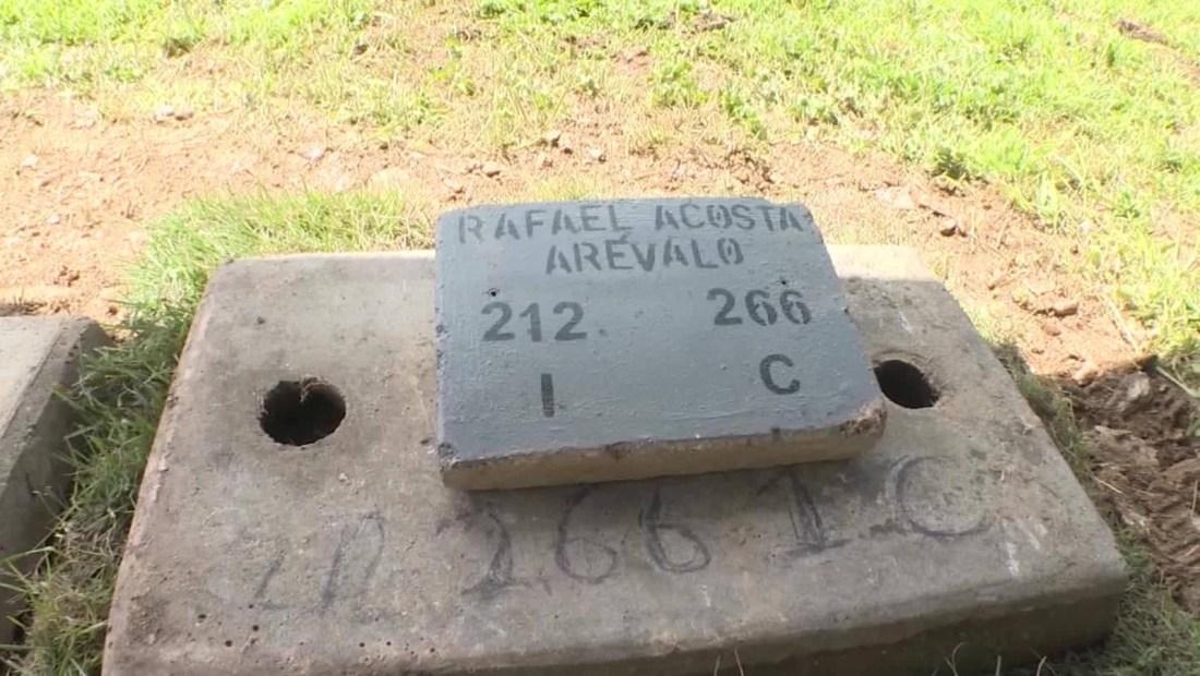 El entierro del capitán Acosta no fue como su familia planeó