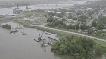 Los estragos del ciclón Barry en Lousiana