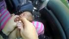 Policía salva a una bebé de 12 días de nacida