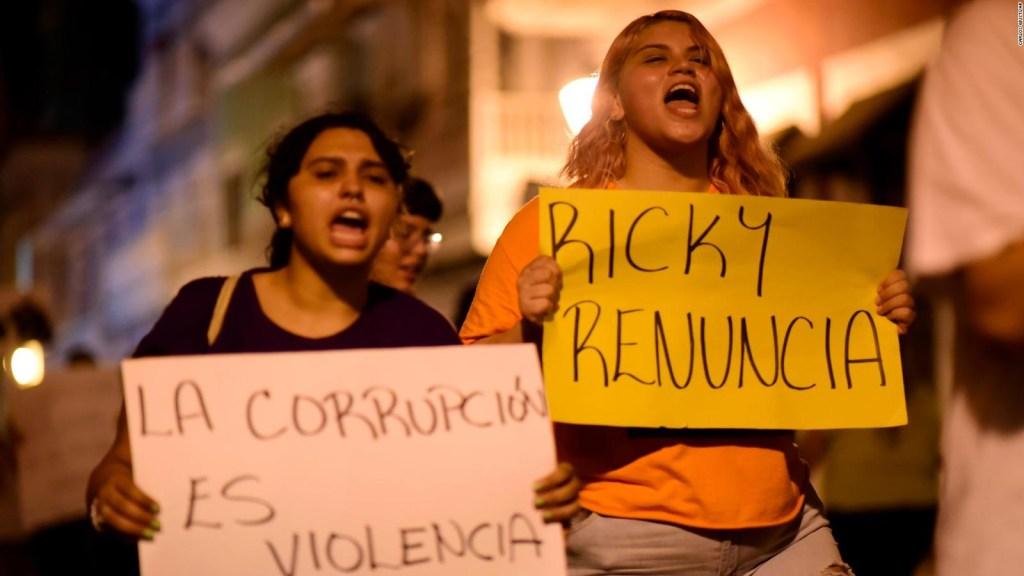 Una madrugada de indignación en Puerto Rico