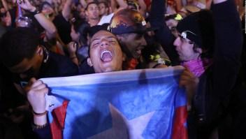 Fiesta en San Juan tras mensaje de renuncia de Rosselló