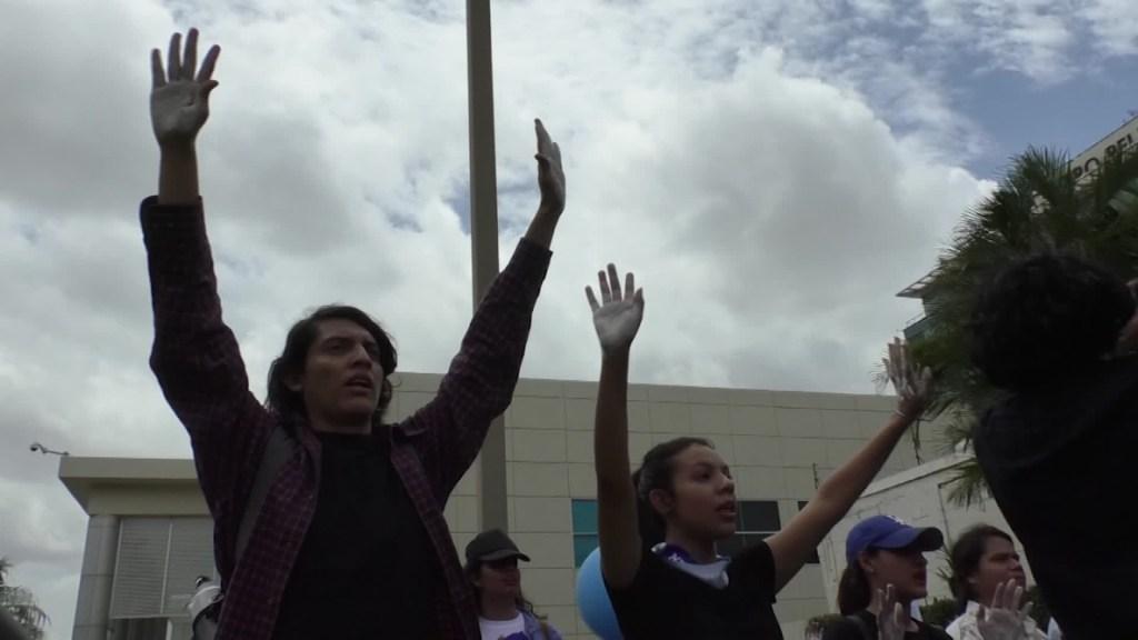 Nicaragua marcha estudiantes Policía