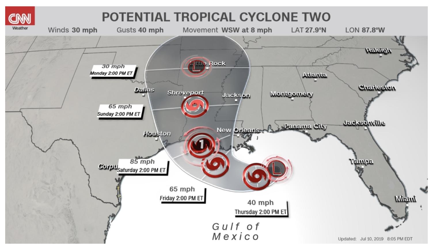 tormenta sistema golfo