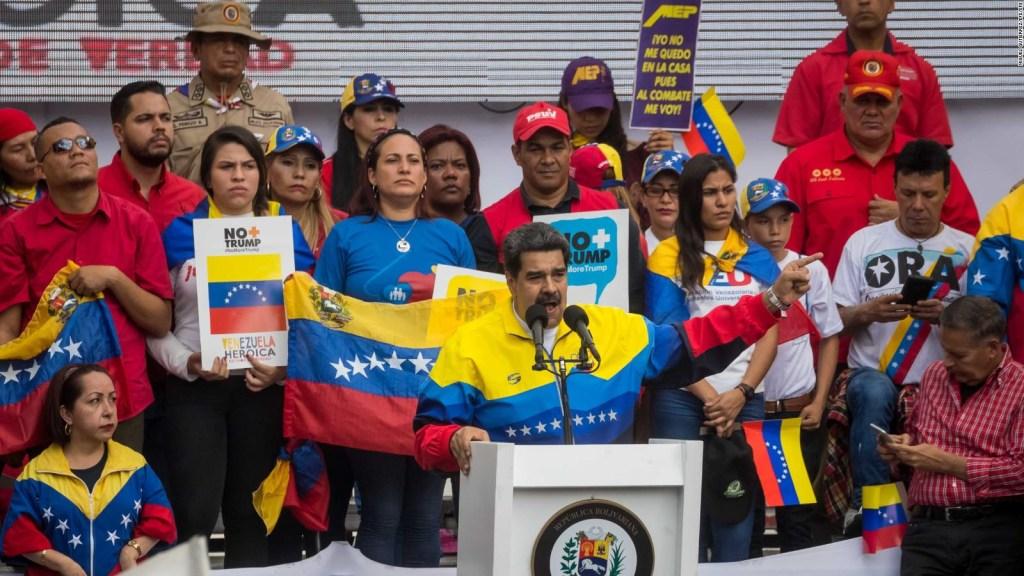 El chavismo protesta contra Trump