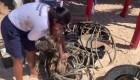 Amas de casa encabezan operativo de limpieza en balneario de México