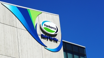 AUCKLAND, NEW ZEALAND - DECEMBER 01: A general view of the Fonterra buildin is seen on December 1, 2017 in Auckland, New Zealand. Fonterra has been ordered to pay Danone 105 million euros ($183 million) in damages for food safety failures following arbitration in a Singapore court. The French food company sued Fonterra over the whey protein contamination and botulism scare in 2013, which resulted in the recall of 67,000 cans of Danone's Karicare infant formula brand. Fonterra shareholders' fund units and listed bonds were halted from trading earlier today ahead of the damages announcement. (Photo by Hannah Peters/Getty Images)