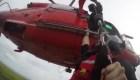 Quedó a la deriva y grabó su rescate