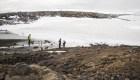 Funeral por un glaciar en Islandia
