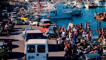 El Open Arms desembarca en Lampedusa