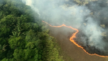 Bolsonaro intenta contener los incendios en el Amazonas