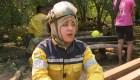 Mujeres bombero combaten el fuego en la Chiquitanía