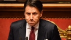 El primer ministro italiano, Giuseppe Conte, durante un discurso en el Senado italiano, en Roma, el 20 de agosto de 2019. Crédito: ANDREAS SOLARO / AFP / Getty Images.