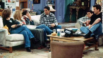 """FRIENDS -- """"The One After the Superbowl"""" (Part 1) Episode 12 -- Pictured: (l-r) Matt LeBlanc as Joey Tribbiani, Karman Kruschke as Coma Woman, Roark Critchlow as The Doctor -- Photo by: Brian D. McLaughlin/NBCU Photo Bank"""