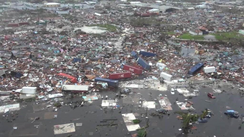 Primeras imágenes de la destrucción de Dorian en Bahamas