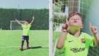 Mateo Messi y un gol viral en su cumpleaños