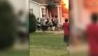 Vecinos salvan a una mujer de 97 años de un incendio