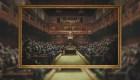 """Obra de Bansky """"Parlamento involucionado"""" será subastada"""