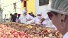 Perú logra récord Guinness con ensalada de alcachofa