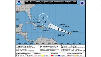 Jerry es una amenaza para las Antillas