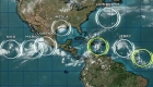Alto número de ciclones activos en el Atlántico y Pacífico