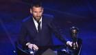 Messi gana el premio The Best: mira el momento del triunfo