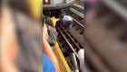 Niña cae en las vías del metro de Nueva York