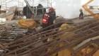 Derrumbe en Ezeiza: hubo un muerto y 13 heridos