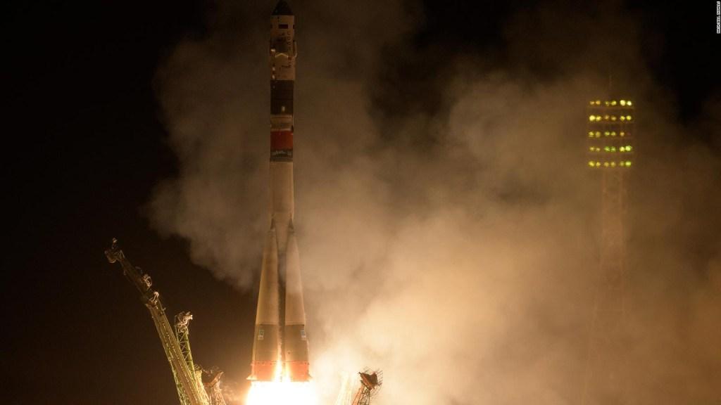 Despega la cápsula Soyuz rumbo a la Estación Espacial Internacional