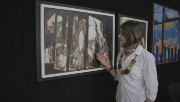 La artista que pinta con yerba mate