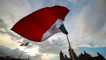 MEXICO CITY, MEXICO - SEPTEMBER 15: General view of the celebrations of Mexico's Independence Day at Zocalo on September 15, 2019 in Mexico City, Mexico. This event also known as 'El Grito' marks the first one of President Lopez Obrador's administration. (Photo by Hector Vivas/Getty Images)