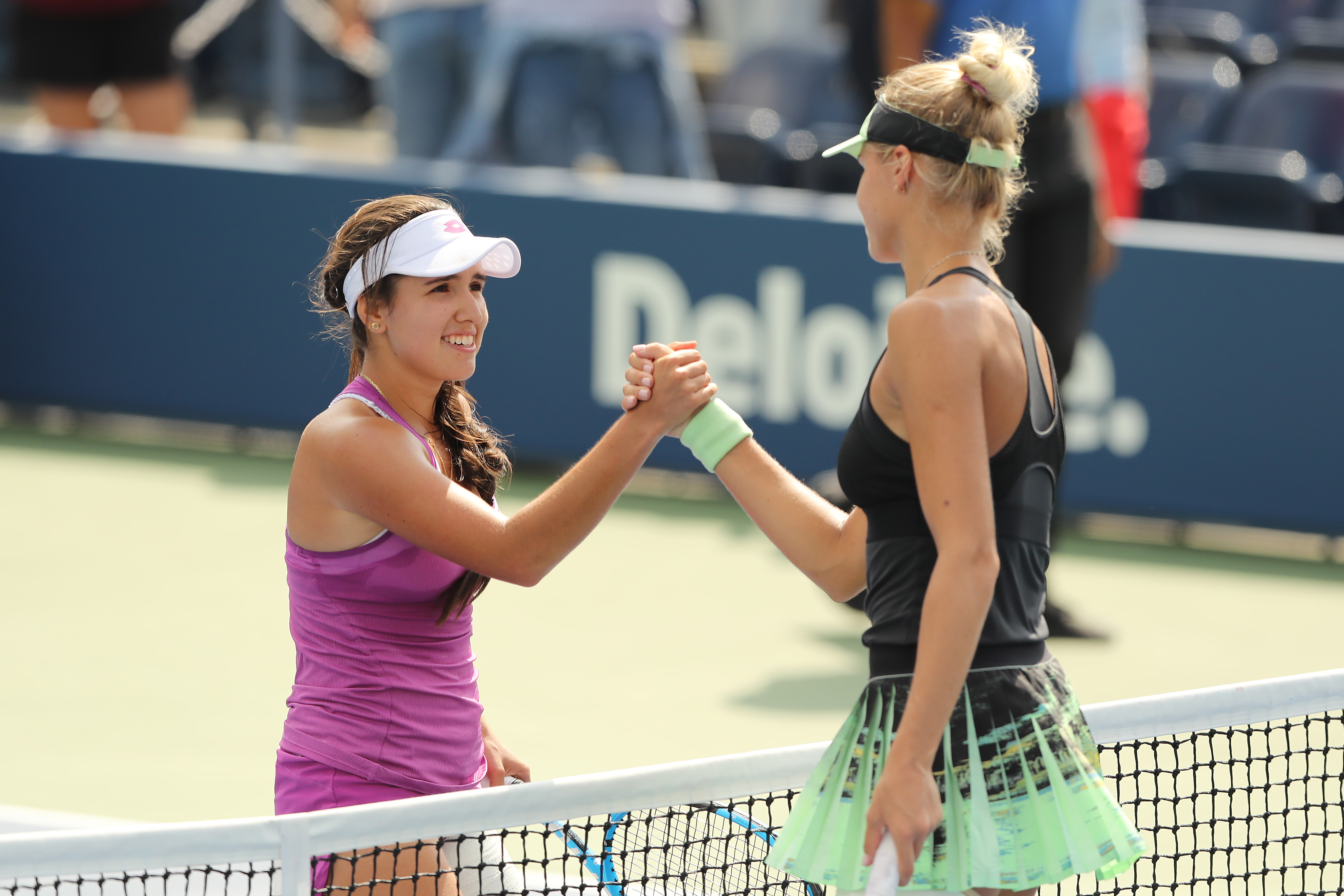 NEW YORK, NEW YORK - SEPTEMBER 08: Maria Camila Osorio Serrano of Colombia celebrates after winning her Junior Girl's Single's final match against Alexandra Yepifanova of United States on day fourteen of the 2019 US Open at the USTA Billie Jean King National Tennis Center on September 08, 2019 in the Queens borough of New York City. (Photo by Elsa/Getty Images)