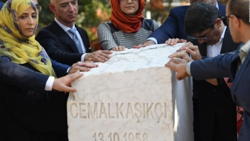 Homenaje a Jamal Khashoggi en Turquía
