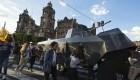 Marchan a 51 años de la masacre de estudiantes en Tlatelolco