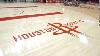 28 November 2010: Rockets floor logo prior to 99 - 98 win over Oklahoma City at the Toyota Center in Houston, TX. (Photo by John Rivera/Icon SMI/Icon Sport Media via Getty Images)