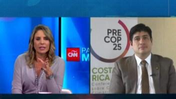 Presidente de Costa Rica opina sobre el cambio climático