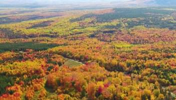 Los colores del otoño boreal cubren a The Forks, en Maine