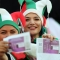 Las mujeres de Irán disfrutaron su primer partido de fútbol en 40 años