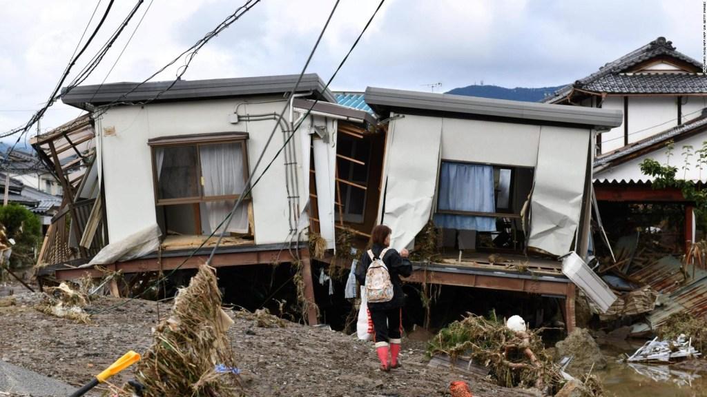 El tifón Hagibis dejó un rastro de destrucción en Japón