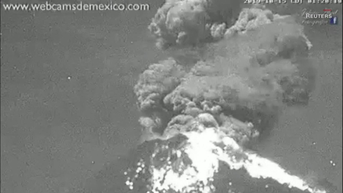 Mira la erupción del volcán Popocatépetl
