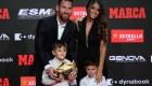 Messi gana la Bota de Oro, pero su hijo se roba el espectáculo
