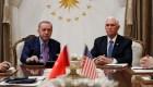 Pence confirma alto el fuego de Turquía