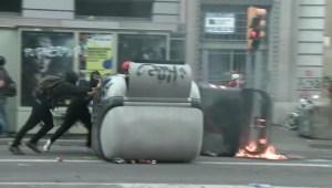 Mira los violentos enfrentamientos en Cataluña