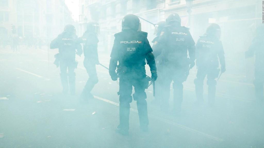 La cuarta jornada de protestas en Cataluña