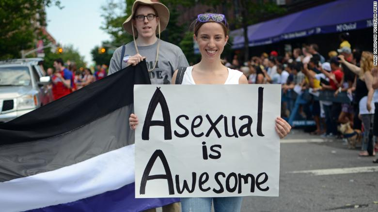 June 2, 2013 - New York City, New York, United States - Young woman holds sign that reads ''Asexual is Awesome'' during Queens Pride Parade in Jackson Heights, New York City (Credit Image: ? Nano Calvo/VW Pics via ZUMA Wire)