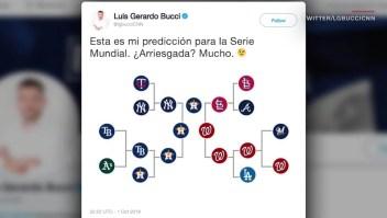 Bucci acertó en todas sus predicciones en playoffs de Grandes Ligas
