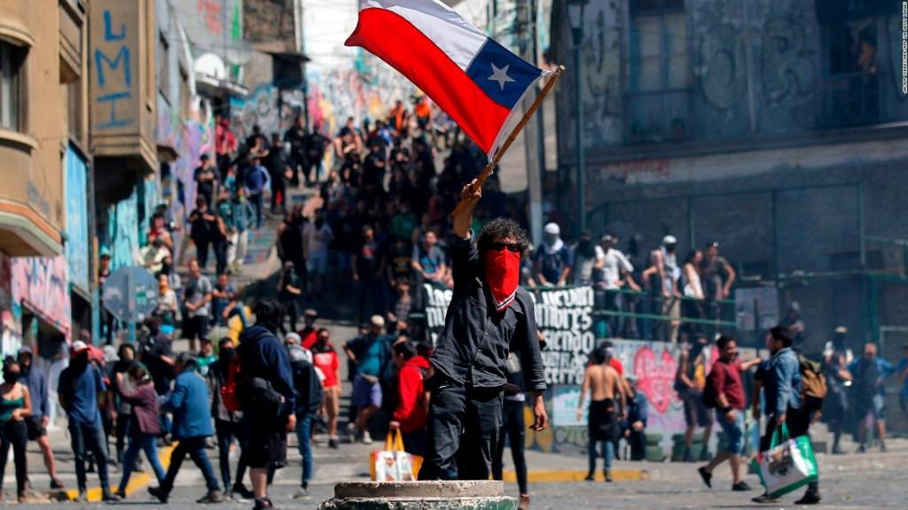 Tensión en Chile: así fueron las protestas este lunes